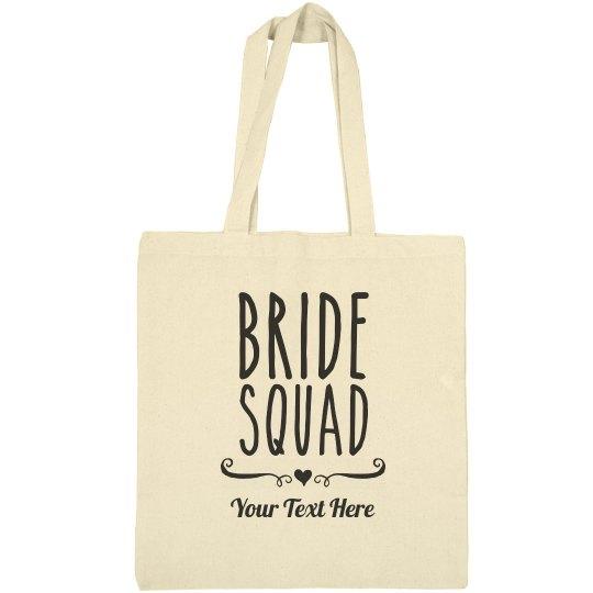 Trendy Bride Squad Heart Bag