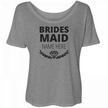 Trendy Diamond Matching Bridesmaid