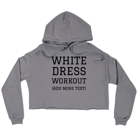 Trendy Fitness White Dress Workout