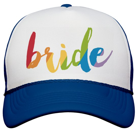 Tye-Dye Bride Hat