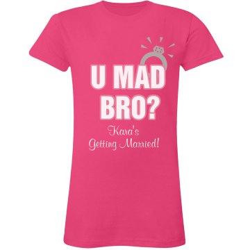U Mad Bro Ring Tee