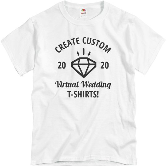 Virtual Wedding Customizable Tees