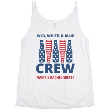 Wed White & Blue Crew Bachelorette