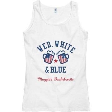 Wed, White & Blue Customized
