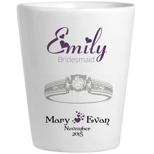 Wedding Glass Emily