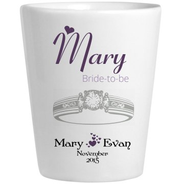 Wedding Glass Mary