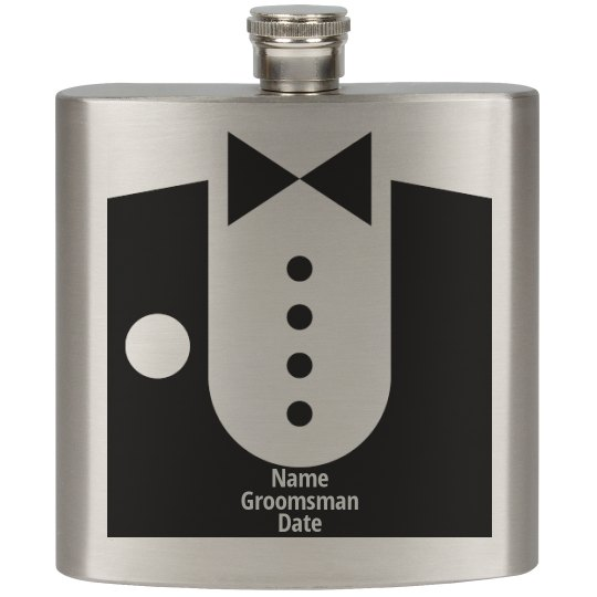 Wedding Groomsman's Flask