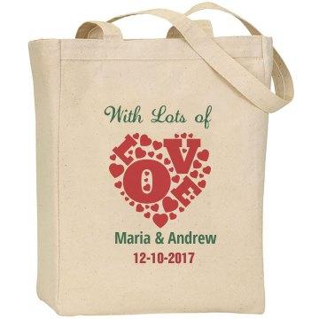 Wedding Thanks Tote Bag