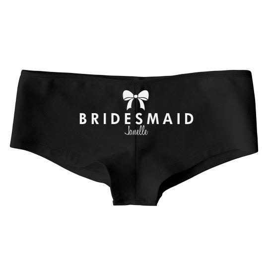 White Bow Bridesmaid