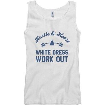 White Dress Work Out Tank