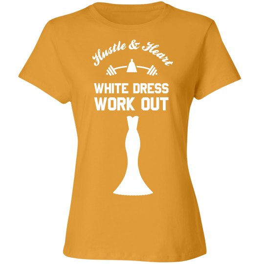 White Dress Work Out Tee