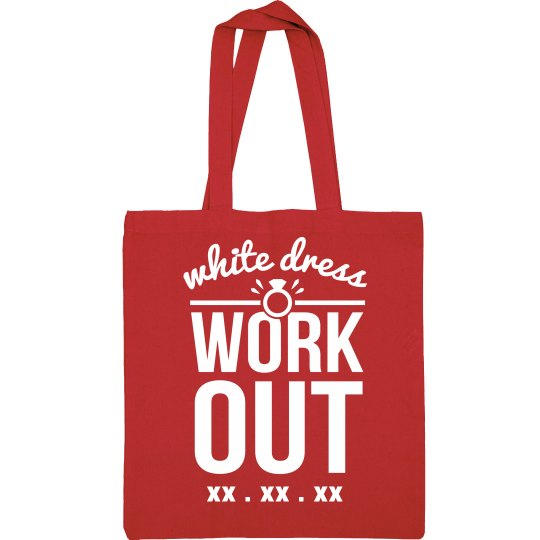 White Dress Workout Custom Gym Bag