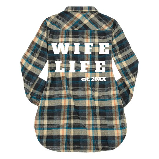 Wife Life Plaid