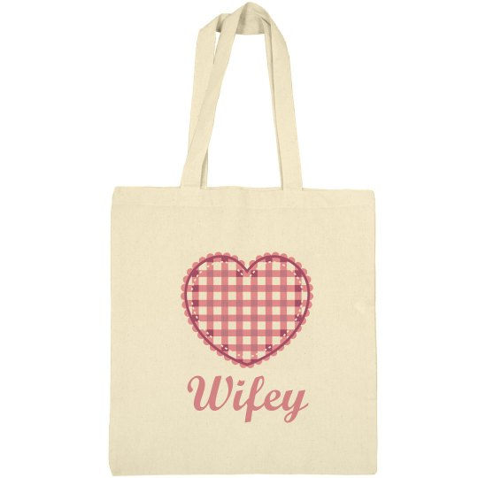 Wifey Heart Tote Bag