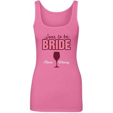 Wine Tasting Bride Tank