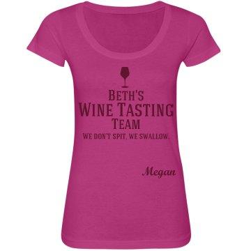 Wine Tasting Team