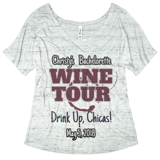 Wine tour bachelorette tee