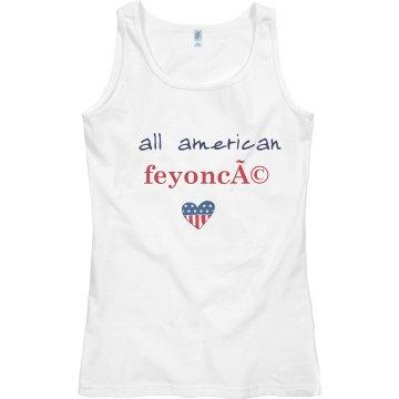Women's Tank All American Feyoncé