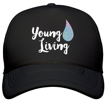 Young Living black glitter hat