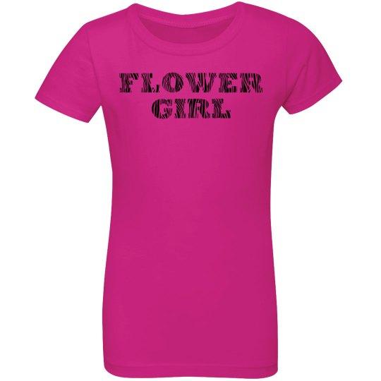 Zebra Print Flower Girl