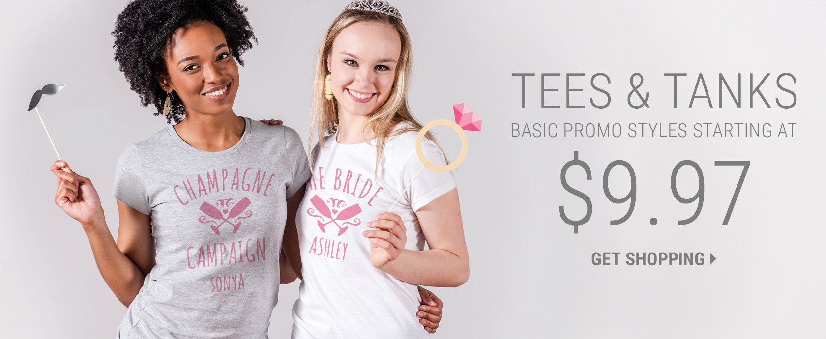 Custom Basic Tees And Tanks For Under $9.97