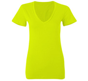Junior Fit Bella V-Neck Neon T-Shirt