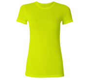 Junior Fit Cotton Poly Neon T-Shirt
