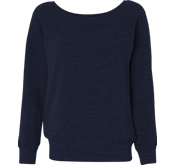 Ladies Triblend Wideneck Sweatshirt