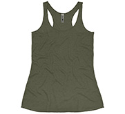 Ladies Slim Fit Racerback Triblend Tank