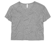 Bella Ladies Flowy Boxy Cropped Tee