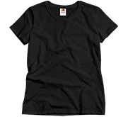Fruit of the Loom Ladies Semi-Fitted Relaxed Fit Basic Tee