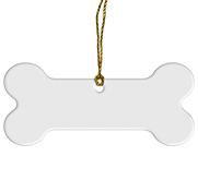 Conde Porcelain Dog Bone Ornament