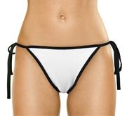 Leonetti White Side-Tie Bikini Bottom