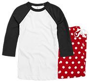 Bella + Canvas Unisex Raglan Pajama Set