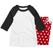 Bella + Canvas Youth Raglan Pajama Set
