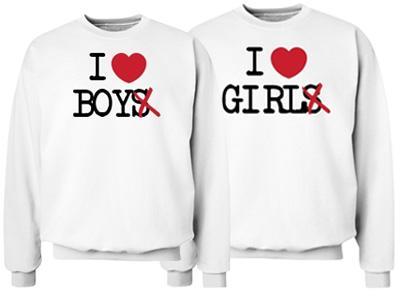 I Heart Girl Crewneck