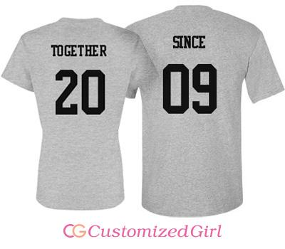 Together Since Couple Tee
