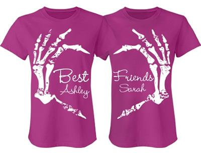 BFF Skeleton Heart Shirt