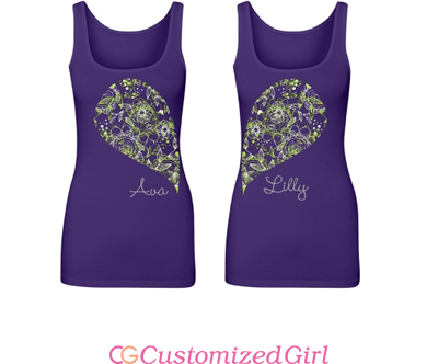 Matching Bff Floral Tank