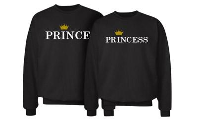 Matching Couple Prince Crown