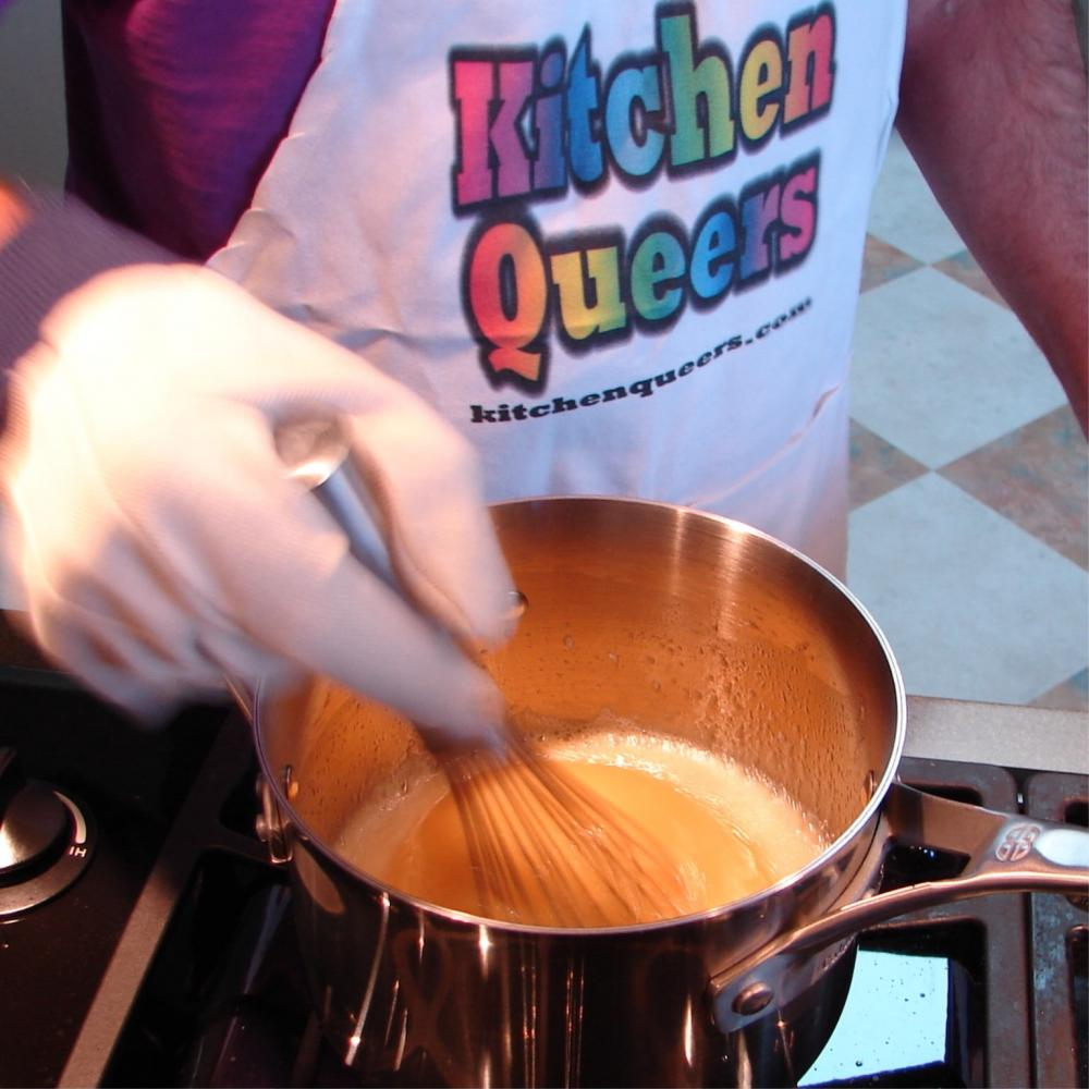 Kitchen Queers logo apron