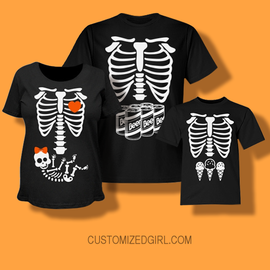Skeleton Beer Gut Costume