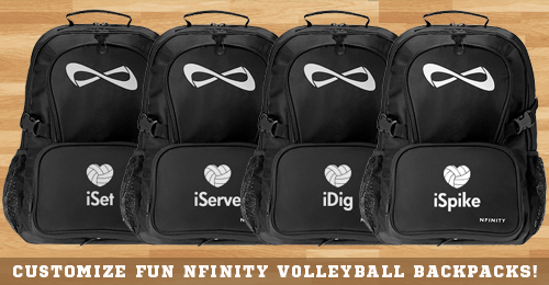 Trendy iDig Volleyball Black Nfinity Backpack