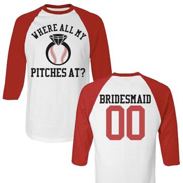 Bridesmaid Baseball Bachelorette Party Jerseys