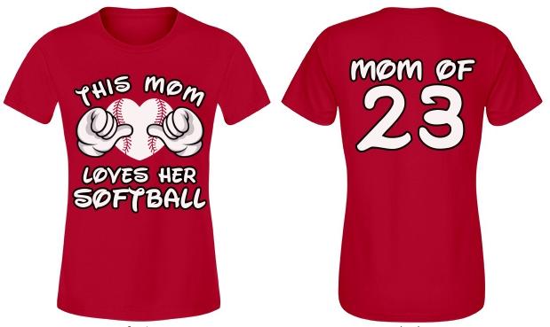 This Softball Mom Shirt With Custom Name Number