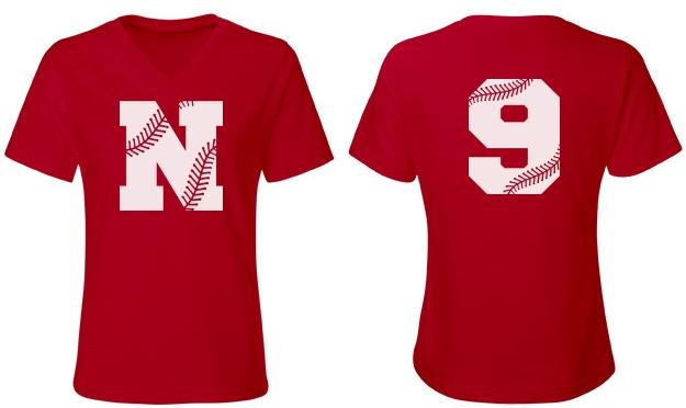Trendy Custom V-Neck Softball Mom Shirt