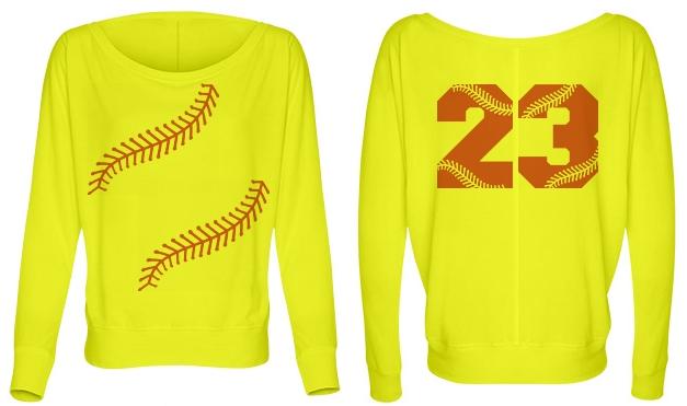 Softball Yellow Trendy Softball Fashion Top Mom or Fan