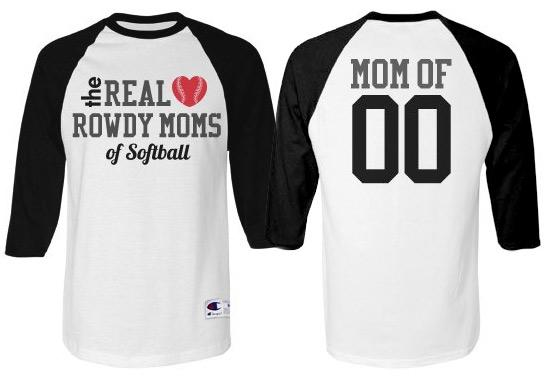 Trendy Softball Mom Custom Sports Mom Jerseys