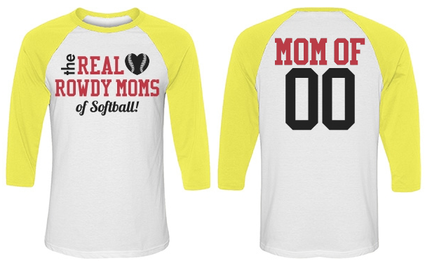 Trendy Softball Colors Softball Mom Shirt