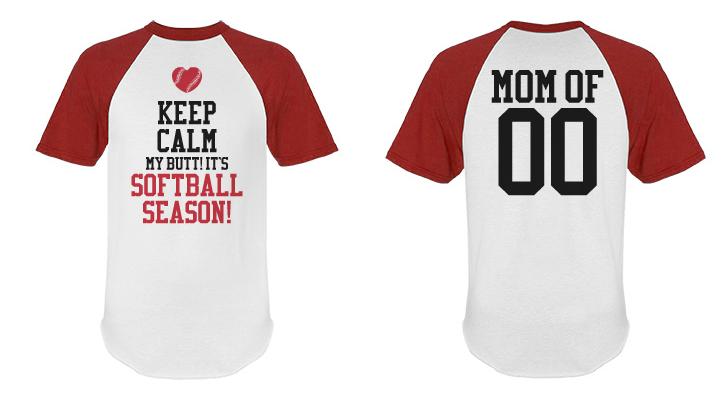 Custom Anti Keep Calm Softball Mom Short Sleeve Shirt